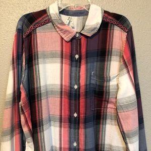 Mudd Tops - Mudd  red, blue, & gray flannel shirt Sz XL GUC